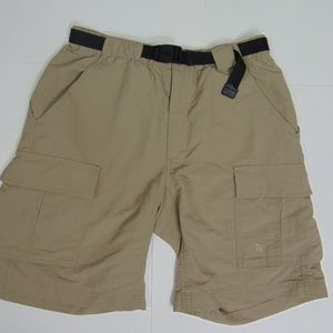North Face Men M Belted Cargo Shorts Outdoor Tan